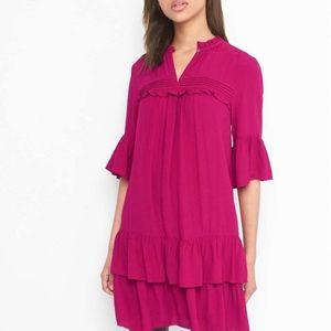 Gap ruffle layer dress